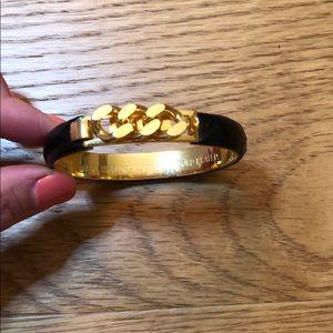 Vita croc skin gold plated bracelet